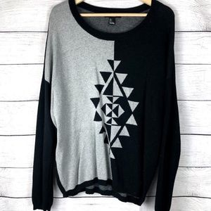 Forever 21 | Printed Knit Crewneck Sweater